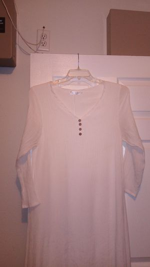 White cotton blend summer dress for Sale in Spring Hill, FL