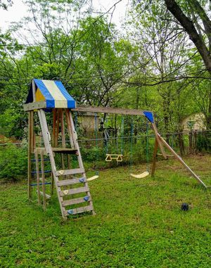 Swing set fort slide playground play scape for Sale in San Antonio, TX