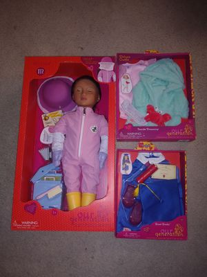 Our Generation Doll Melina Professional Beekeeper Freckles Girl Toy Gift 18 Inch. Set for Sale in Palmdale, CA