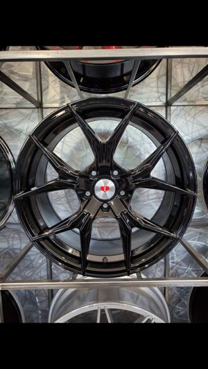 "Glossy black 19"" wheels fits BMW 3 series Cadillac CTS 19x8.5 19x9.5 5x120 +35 rim tire shop for Sale in Tempe, AZ"