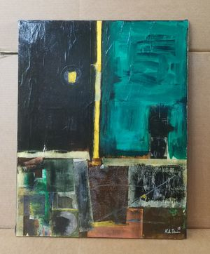 Original Abstract Mixed Media Minimal Recycled Painting by K.A.Davis Art for Sale in Chico, CA