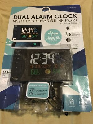Dual Alarm Clock with USB Charging port for Sale in Lilburn, GA