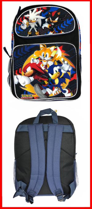 NEW! Sonic The Hedgehog Backpack tails knuckles cartoon anime movie video games kid's book bag Sega for Sale in Long Beach, CA