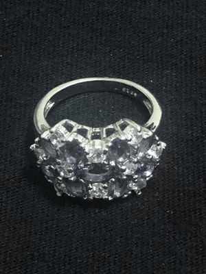 Sterling Silver Purple / Clear CZ ring for Sale in Las Vegas, NV