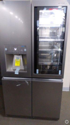 Lg instaview 4 door stainless steel fridge for Sale in Pasadena, TX