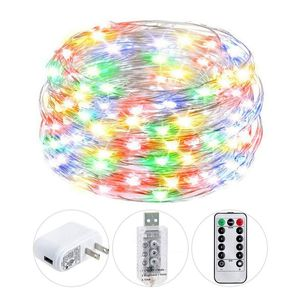 String Lights, USB Twinkle Fairy Lights with Remote Adapter, 40ft 120 LED Waterproof Silver Wire Decorative Lights for Sale in Garden Grove, CA