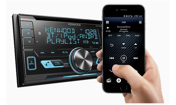 Kenwood Double-DIN In-Dash CD/MP3/USB Bluetooth AM/FM Car Stereo Receiver High Resolution Audio Compatibility