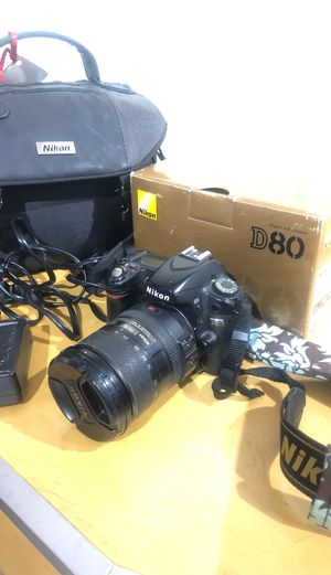 Nikon D80 DSLR Camera with Lens, charger, bag for Sale in Fontana, CA
