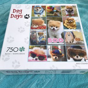 NEW!! 750 piece jigsaw puzzle DOG DAYS BOO COLLAGE for Sale in Torrance, CA
