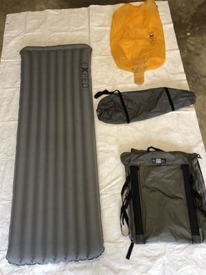 EXPED DOWN SLEEPING PAD WITH CHAIR KIT AND INFLATION BAG for Sale in Virginia Beach, VA