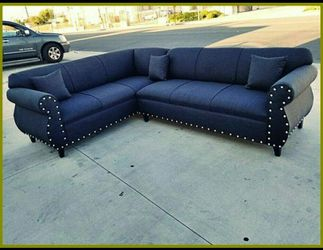 NEW 7X9FT ELITE BLACK FABRIC SECTIONAL COUCHES for Sale in Los Angeles,  CA