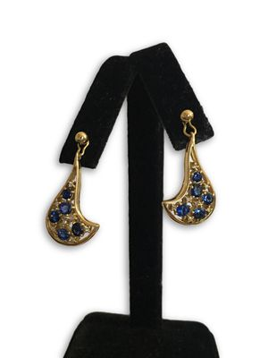 18k sapphire/diamonds earrings for Sale in Alexandria, VA