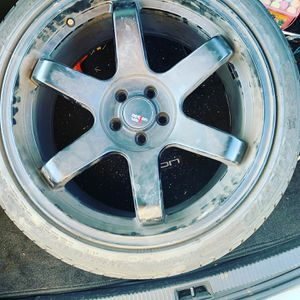 18 inch rims option lab matte black for Sale in Fairview, OR
