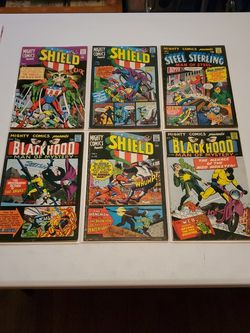 Mighty Comics Presents #41, 45, 46, 47, 48, 50, Radio Comics 1966-67 Silver Age, The Shield, Black Hood, Steel Sterling, Web, Hangman, Mr Justice App- for Sale in Fresno,  CA