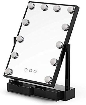 Large Makeup Vanity Mirror with Lights,Hollywood Light-up Professional Mirror with Storage,3 Color Lighting Modes,10x Magnification, for Sale in San Antonio, TX