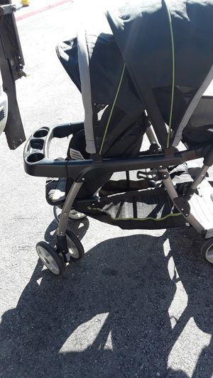Double stroller plus triple you can stand up on it for Sale in Victorville, CA