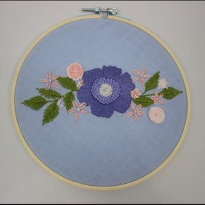 Handmade Flower Embroidery Artwork for Sale in Clifton Heights, PA
