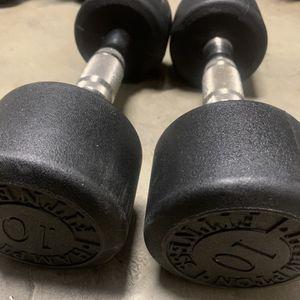 Hampton 10lbs Dumbells Urethane Made In USA Weight Set for Sale in Auburn, WA