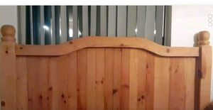 Solid wood head and Footboard for Sale in Santa Fe, NM