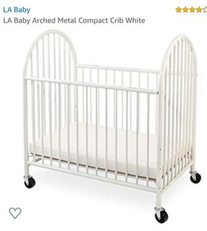 Brand New La Baby Arched Compact Crib White for Sale in Canal Winchester, OH