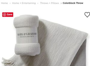 * MARK & GRAHAM BY WILLIAMS-SONOMA - Colorblock Throw, BRAND NEW! * for Sale in Taylor, MI