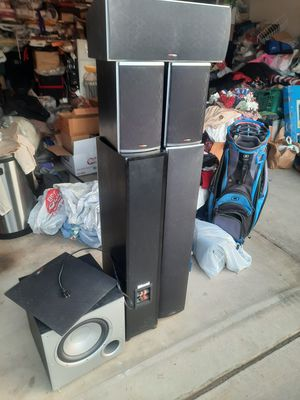 Polk Audio 5pc Speaker System for Sale in Mesa, AZ