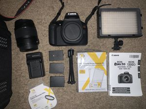 Canon EOS Rebel T6 DSLR Camera with lens, carrying case and accessories for Sale in Philadelphia, PA