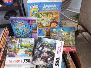 Puzzels kids games for Sale in Hampton, VA