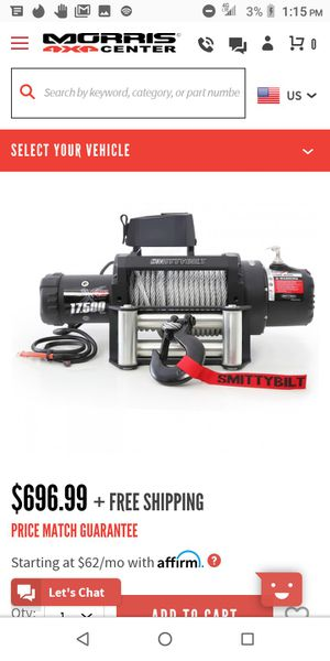 Smittybilt winch for Sale in Round Rock, TX