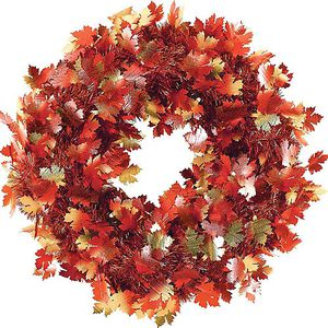 Fall Leaves Tinsel Wreath for Sale in The Bronx, NY