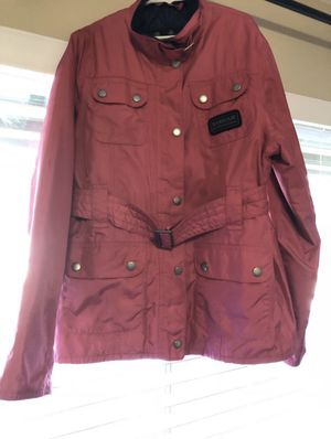BARBOUR Girls Waterproof Jacket & Hat 12-13Y Like New for Sale in Redmond, WA