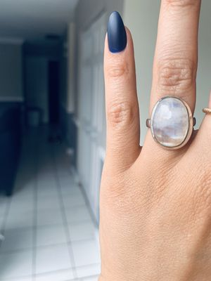 Silver Ring with Oval Moonstone Size 7 for Sale in Bolingbrook, IL