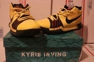 NEW Nike Kyrie 3 MM EP Bruce Lee Size Yellow Black Ruthless 9 Shoes W/ Box for Sale in Stone Mountain, GA