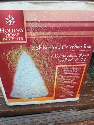 Bedford fir white x-mas tree 7.5 ft. for Sale in Vernon, AZ