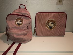 Set of Hello Kitty Matching Backpack & Laptop Zip Cover for Sale in Fresno, CA