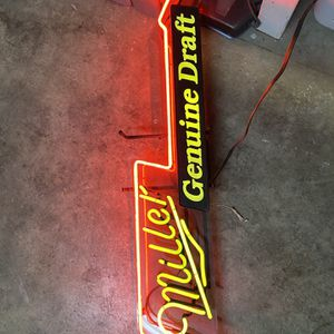 Miller Genuine Draft Light for Sale in Rancho Palos Verdes, CA