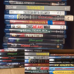 20 BLU RAY MOVIES, $2 EACH OR ALL FOR $35 for Sale in Dallas, TX