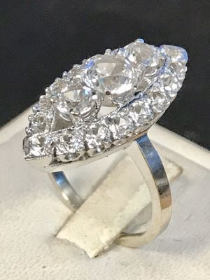 White gold white Sapphire ring for Sale in Riverview, MI
