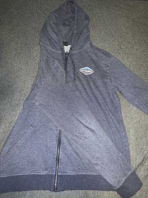 Patagonia Men's Fitz Roy Crest Lightweight Full Zip Navy Blue Hoodie Size Large for Sale in Overland Park, KS