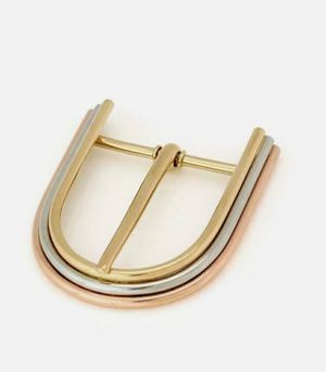 TIFFANY AND CO GERMANY 18K TRI COLRED GOLDBELT BUCKLE EXTREMELY RARE COLLECTIBLE for Sale in IND CRK VLG, FL