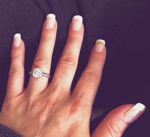 3/4 carat white gold diamond ring size 7 for Sale in Olathe, KS
