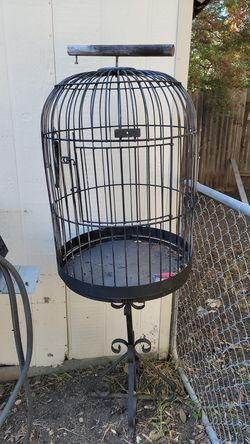 Bird cage - Repainted Black Recently for Sale in Austin,  TX