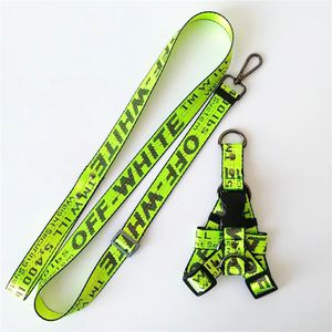 "Fluorescent Green ""Off-White"" Dog Leash & Harness Set for Sale in Fullerton, CA"