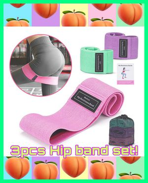 🏋👙🍑NEW SET OF 3 x EXTRA THICK FABRIC HIP RESISTANCE BANDS! FREE CARRYING BAG!!🏋👙 for Sale in Ontario, CA