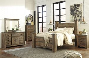Trinell Brown Poooster Bedroom Set With Fireplace Option for Sale in Fairfax, VA