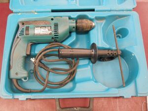 """MAKITA 1/2"""" HAMMER DRILL WITH CASE AND HANDLE HAMMERDRILL for Sale in Columbus, OH"""