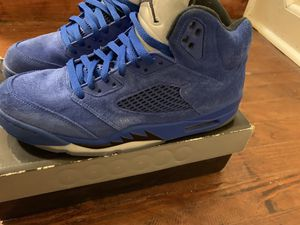 Air Jordan 5 blue size 10.5 excellent condition for Sale in Washington, DC