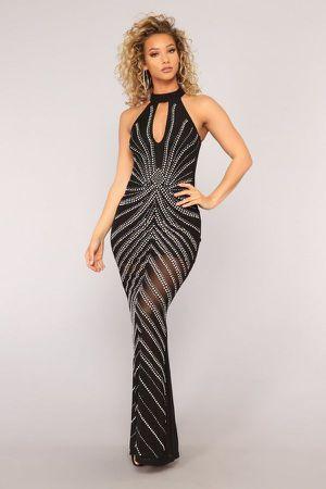 Fashion Nova Black Rhinestone Mesh Dress / Vestido for Sale in Los Angeles, CA