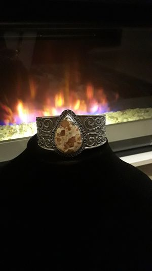 925 stamped cuff with beautiful gemstone for Sale in Riverview, FL