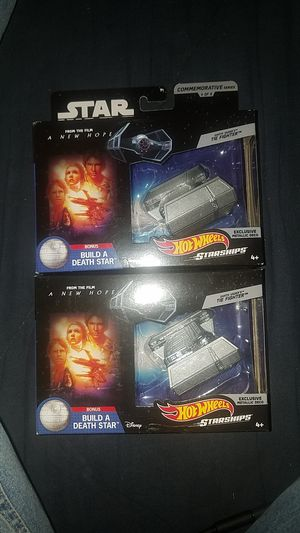 (2) Hot wheels star wars commemorative series for Sale in Everett, WA